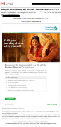 StanC personal loan for wedding
